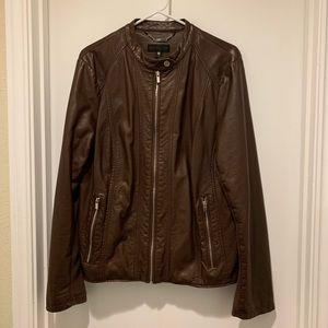 Worthington Brown Faux Leather Jacket